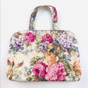 Oscar De La Renta✨Vintage floral makeup travel bag